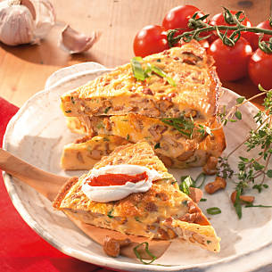 Frittata mit Pfifferlingen