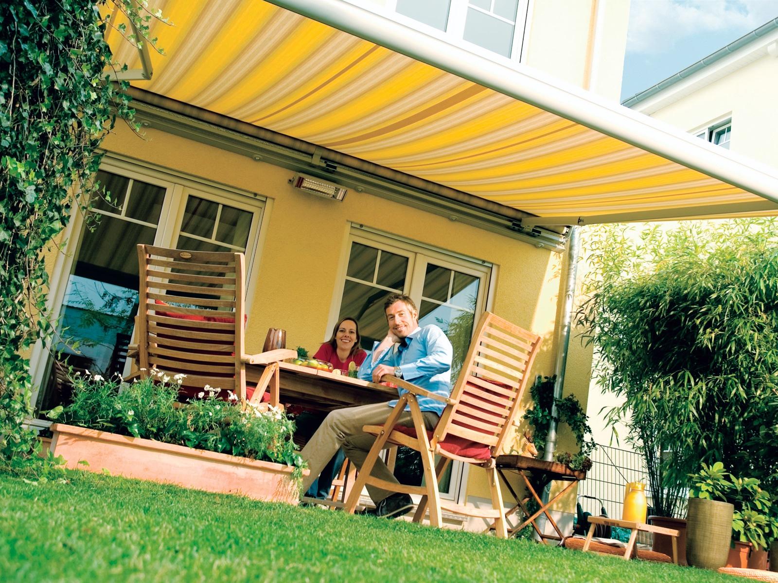 Sonnensegel Markisenstoff Sonnendach Sonnenschutz Gelenkarm 3 Farbe 3 Größe DE
